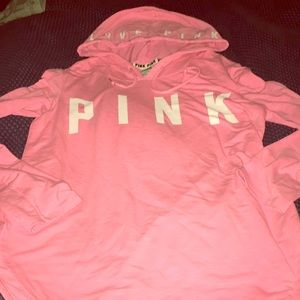 Pink Victoria Secret hooded pull over